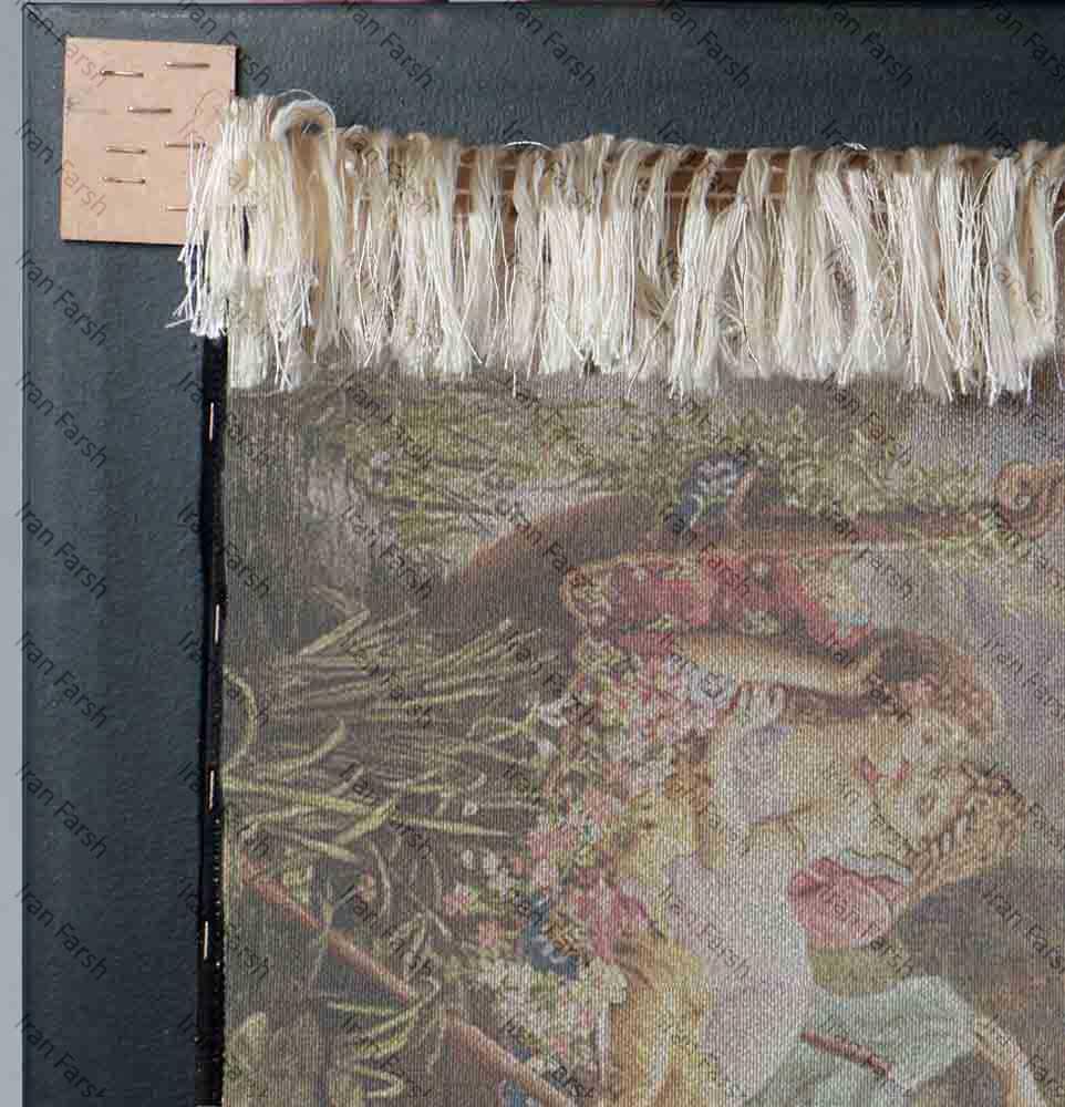 تابلو-فرش-فرش-ایران-مرکب-عشاق