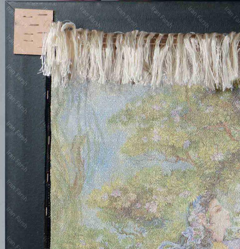 تابلو-فرش-ماشینی-ایران-فرش-در-گلزار-هستی